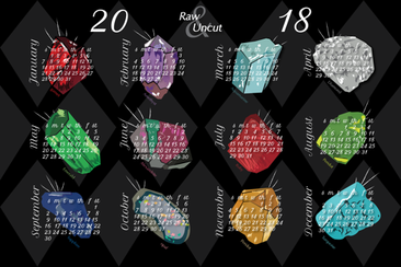 2018 Raw and Uncut - Birthstone Months fabric by sburke313 on Spoonflower - custom fabric