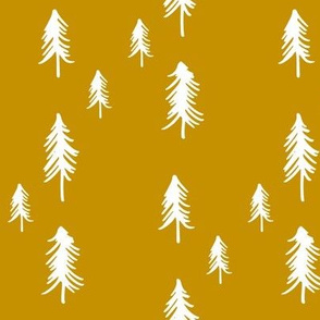 Pine Trees - Mustard (larger size)