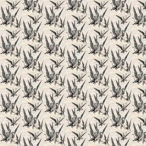 flying_monkeys_paper fabric by marirose on Spoonflower - custom fabric