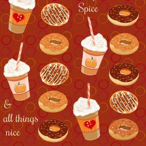 Fall Pumpkin Spice Latte & doughnuts