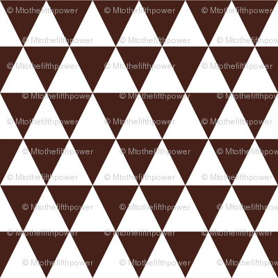 One Inch White and Brown Triangles