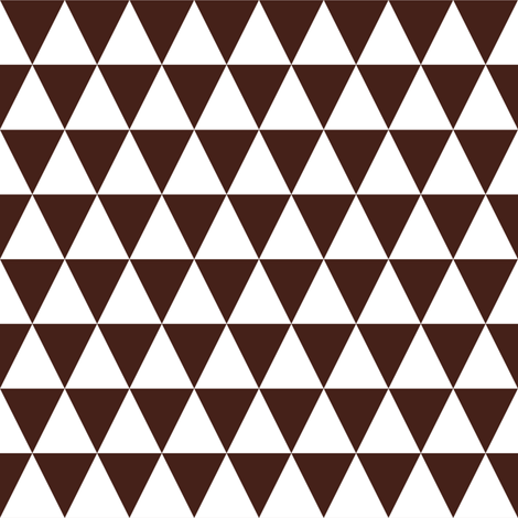One Inch White and Brown Triangles fabric by mtothefifthpower on Spoonflower - custom fabric
