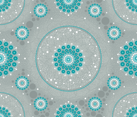Starry Mandala fabric by cynthiafrenette on Spoonflower - custom fabric