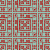 Sage and red blocks