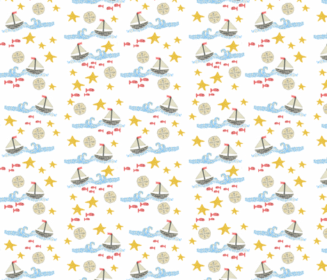 Sea-ing the Point fabric by oceangirlcreativeco on Spoonflower - custom fabric