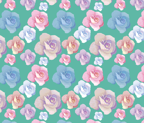 Roses fabric by svaeth on Spoonflower - custom fabric