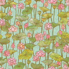 Lotus Flowers {Blue}