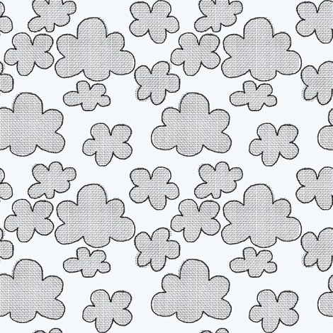 clouds // monochrome fabric by ruth_robson on Spoonflower - custom fabric