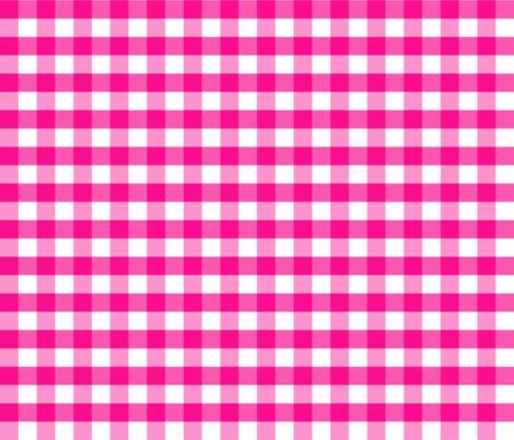 PinkGinghamsmall fabric by jaccii on Spoonflower - custom fabric