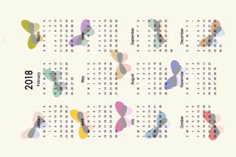 2018 Midcentury Modern Butterfly L fabric by twilfley on Spoonflower - custom fabric