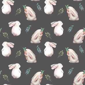 Whimsical Bunnies // Gray