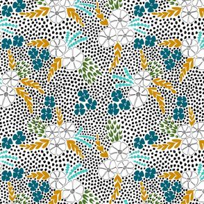 FloralDotTeal