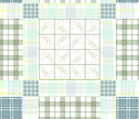 Forest Pointilism Gingham Quilt fabric by herbal_things on Spoonflower - custom fabric