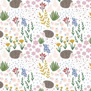Kristin Nicole Hedgehog floral