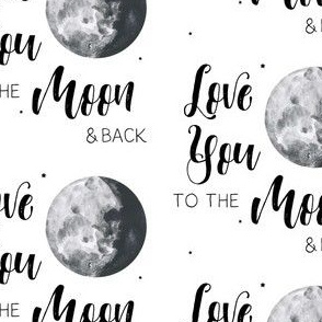 "4"" Love You to the Moon & Back"