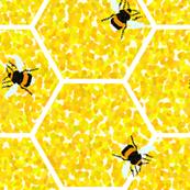 Pointillist Honeycomb