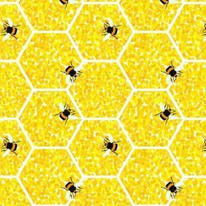 Pointillist Honeycomb