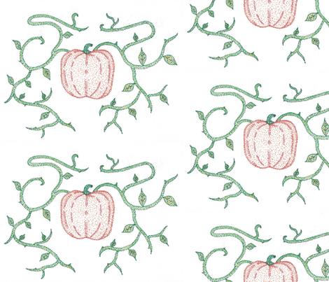 Pumpkin Vines fabric by kate's_kwilt_studio on Spoonflower - custom fabric