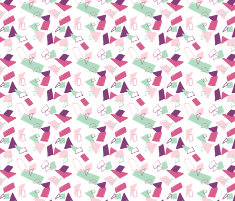 Abstract Shape Multi Mint fabric by kristinnicoleart on Spoonflower - custom fabric