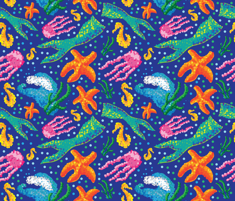 Mermaid Point fabric by sburke313 on Spoonflower - custom fabric