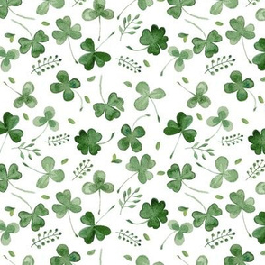 Watercolor Shamrocks // Micro