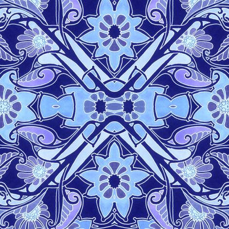 Big Blue Jungle fabric by edsel2084 on Spoonflower - custom fabric