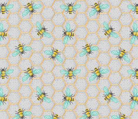 The Point of Bees fabric by annieswift on Spoonflower - custom fabric
