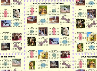 2018 Playdogs of the Month Calendar