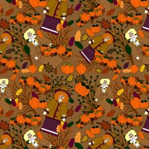 The Proper Scarecrow Nancy and I'm A Refined Scarecrow Jimmy Victorian Scarecrows Fabric Collection
