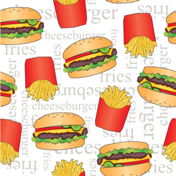 Cheeseburger Sunday fabric by lucielou on Spoonflower - custom fabric