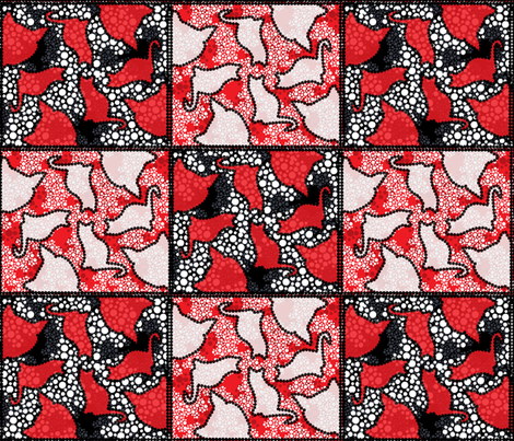 Dotty Kitties fabric by ally_the_junebug on Spoonflower - custom fabric