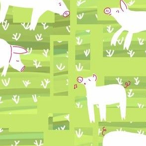 farm pig_greener pastures