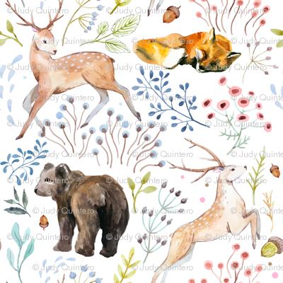 "8""  Wandering Around / Deer, Fox & Bear"