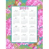2018-Calendar - Butterflies & Blooms