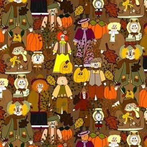 Fall Scarecrows Fabric  Collection Collection