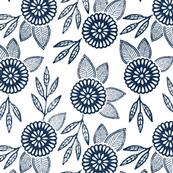 Hand Stamped Flower Pattern