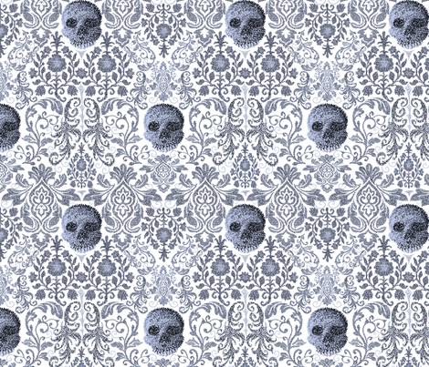 Fancy Pointy Skulls fabric by everhigh on Spoonflower - custom fabric