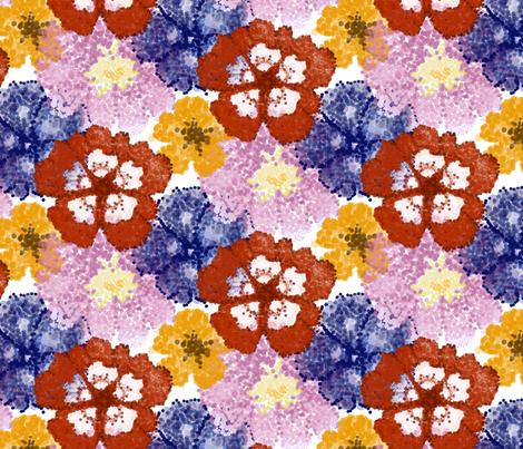 Pointillism Flowers fabric by marykathrynryan on Spoonflower - custom fabric