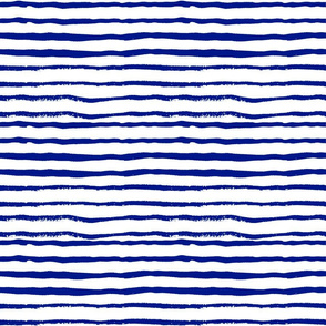 stripes - royal blue and white