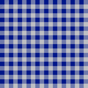 royal blue and grey plaid