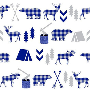 camping outdoors - royal blue