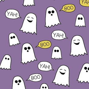 Boo Yah ghost fabric mauve/ kids baby halloween clothes