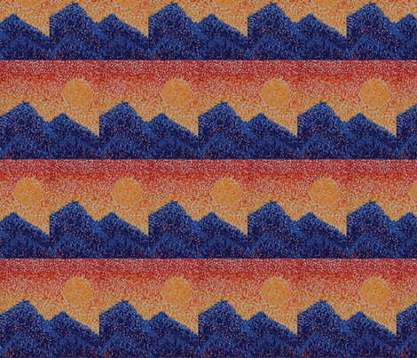 sunset over the mountains fabric by casey_belle_ on Spoonflower - custom fabric