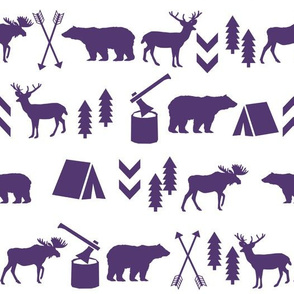 purple camping adventures outdoors design
