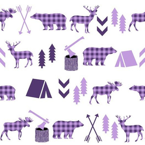 purple hunting camping adventure outdoors design