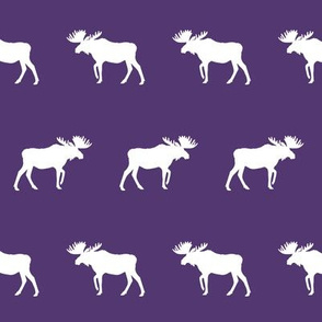 moose fabric - dark purple