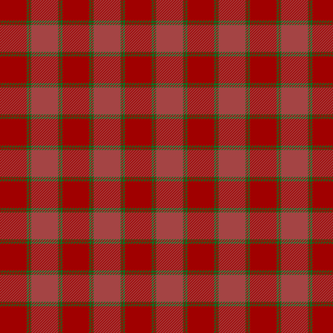 "MacNab ancient tartan, 1.5"" red  fabric by weavingmajor on Spoonflower - custom fabric"