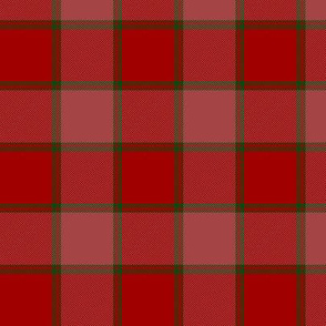 """MacNab ancient tartan, 3"""" red"""