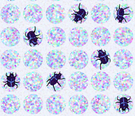 disco ball beetle fabric by clothcraft on Spoonflower - custom fabric