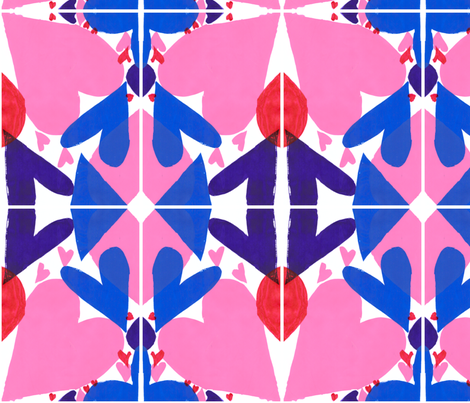 Hearts_1 fabric by muttchen on Spoonflower - custom fabric